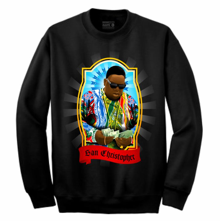 Biggie Black Crewneck (Veladora Collection)