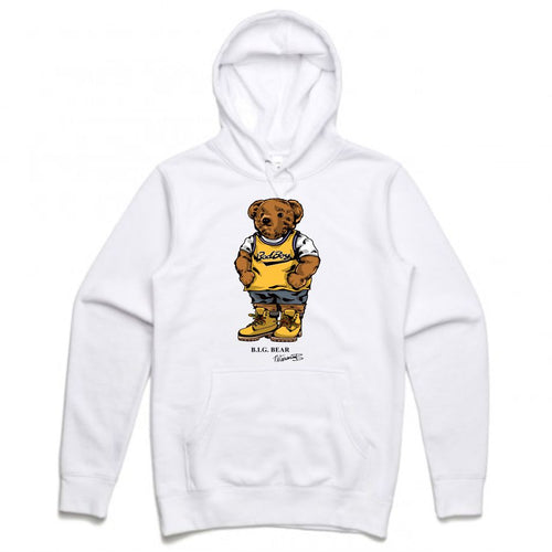 Biggie Badboy White Hoodie (Bear Collection)