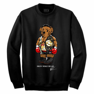 Iron Mike Black Crewneck (Bear Collection)