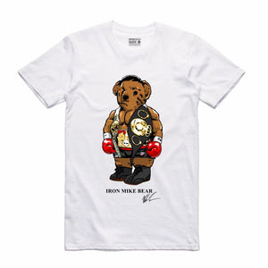 65a6a6fbb6c Iron Mike White T-Shirt (Bear Collection) – streetwearondemand