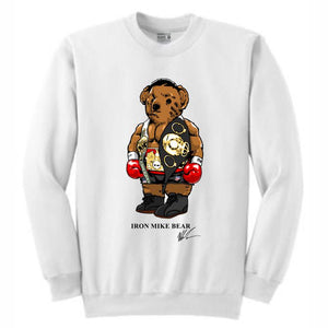 Iron Mike White Crewneck (Bear Collection)