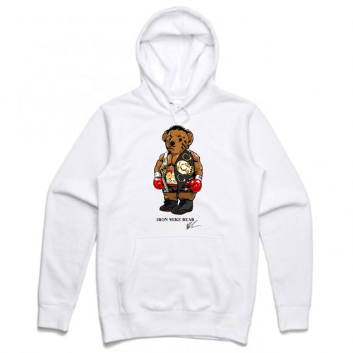 Iron Mike White Hoodie (Bear Collection)