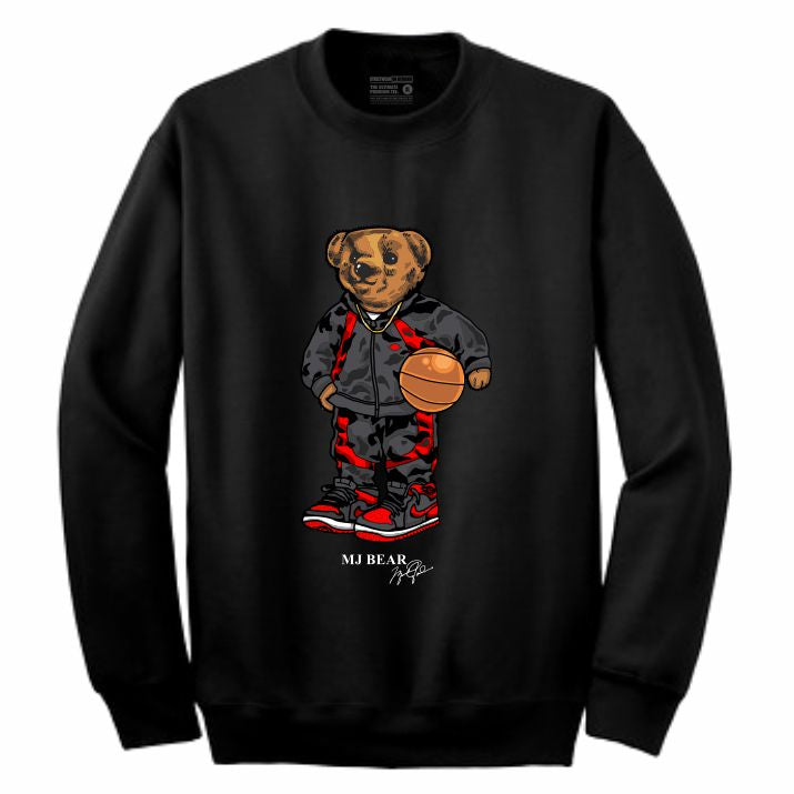 MJ Black Crewneck (Bear Collection)