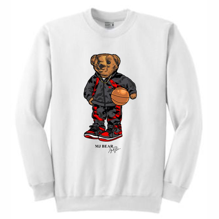 MJ White Crewneck (Bear Collection)