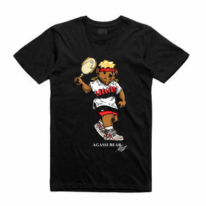 Agassi Black T-Shirt (Bear Collection)