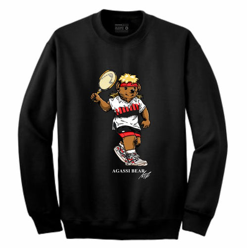 Agassi Black Crewneck (Bear Collection)