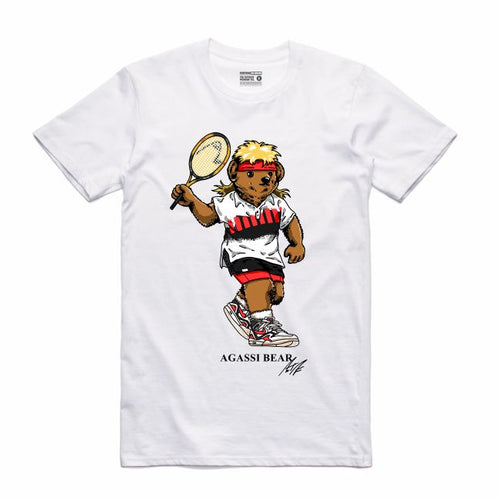Agassi White T-Shirt (Bear Collection)