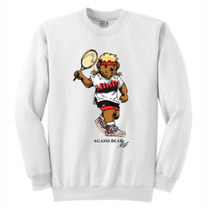 Agassi White Crewneck (Bear Collection)