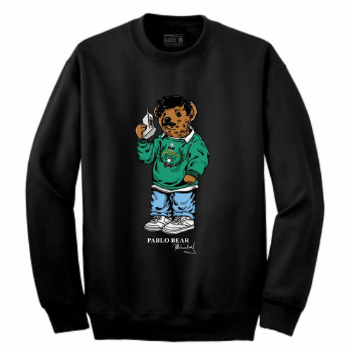 Pablo Black Crewneck (Bear Collection)