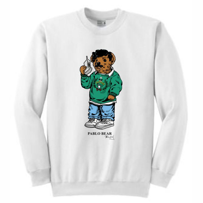 Pablo White Crewneck (Bear Collection)