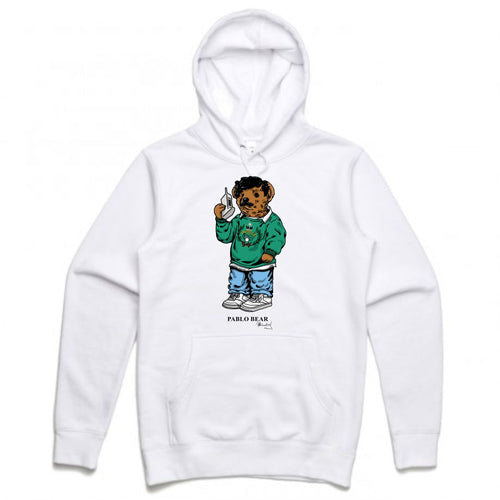 Pablo White Hoodie (Bear Collection)