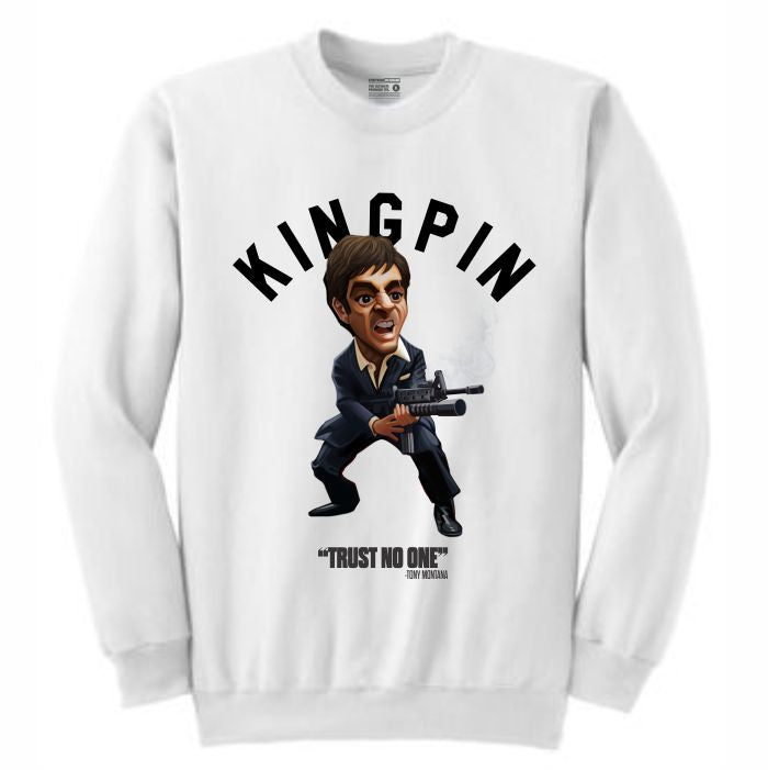 Scarface White Crewneck (Toons Collection)