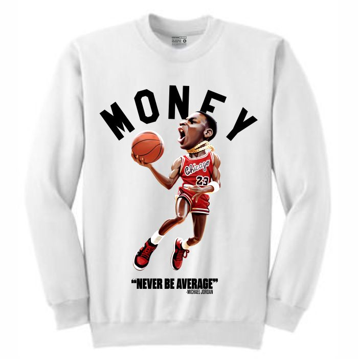 MJ White Crewneck (Toons Collection)