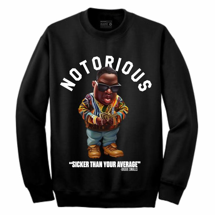 Biggie Black Crewneck (Toons Collection)
