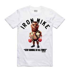 Iron Mike White T-Shirt (Toons Collection)