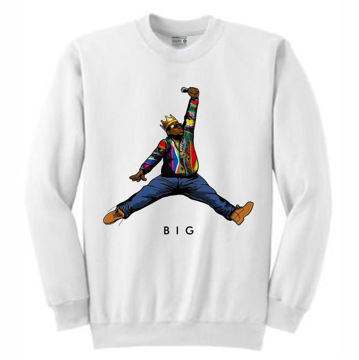 Biggie White Crewneck (JMPMN Collection)