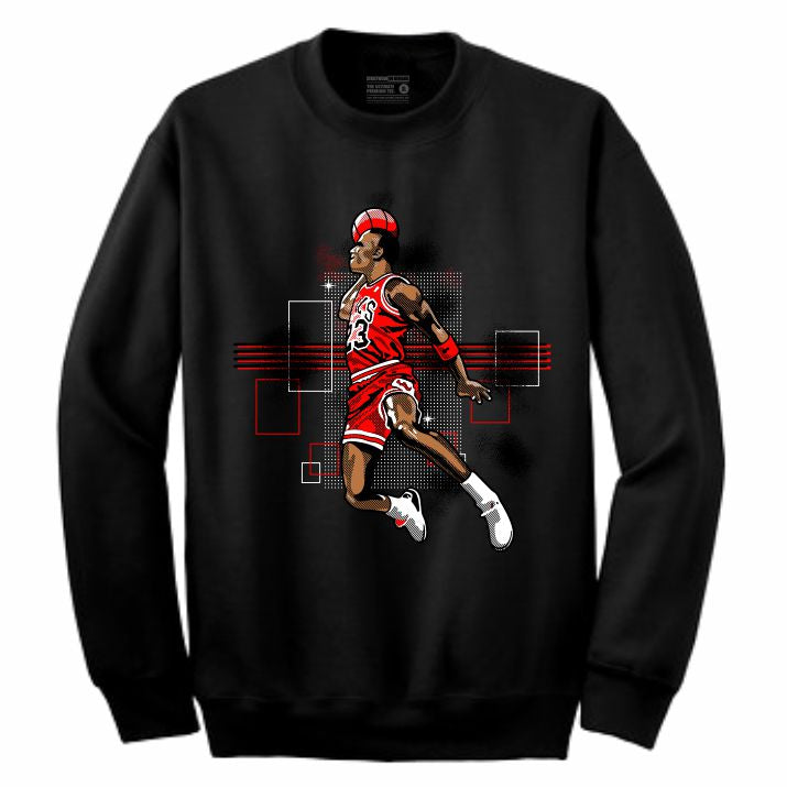 MJ Black Crewneck (Rockstar Collection)