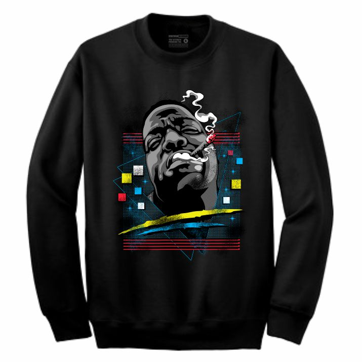 Biggie Black Crewneck (Rockstar Collection)
