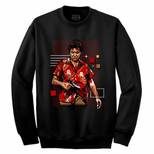 Scarface Black Crewneck (Rockstar Collection)