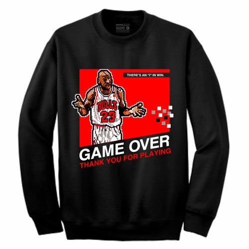 MJ Black Crewneck (8 Bit Collection)