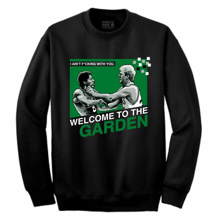 Garden Black Crewneck (8 Bit Collection)