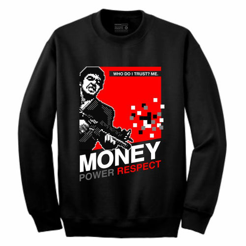 Scarface Black Crewneck (8 Bit Collection)