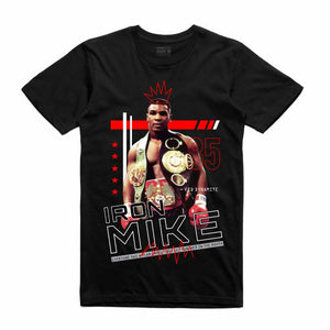 Iron Mike Black T-Shirt (Mixed Media Collection)