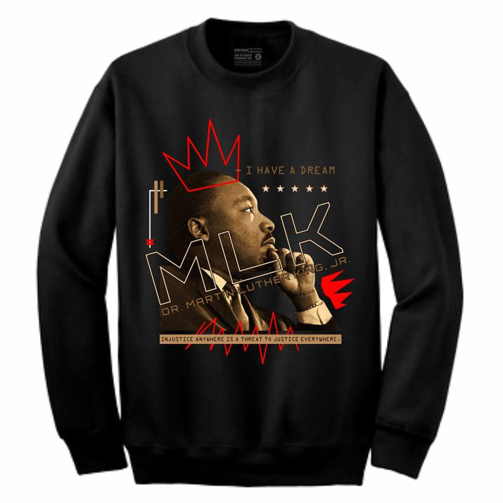 MLK Black Crewneck (Mixed Media Collection)