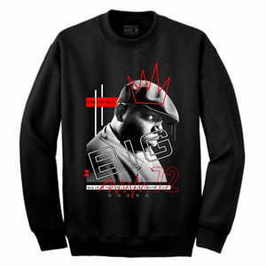 Biggie Black Crewneck (Mixed Media Collection)