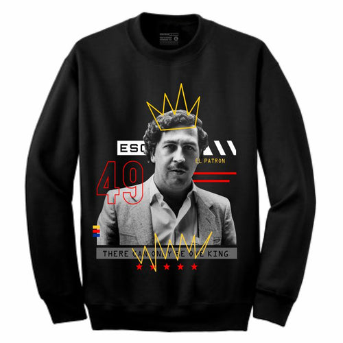 Pablo Black Crewneck (Mixed Media Collection)