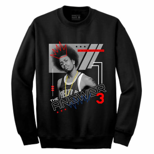 Iverson Black Crewneck (Mixed Media Collection)