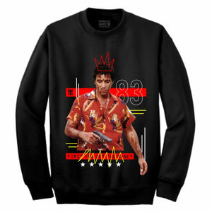 Scarface Black Crewneck (Mixed Media Collection)