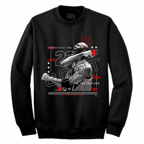 MJ Black Crewneck (Mixed Media Collection)