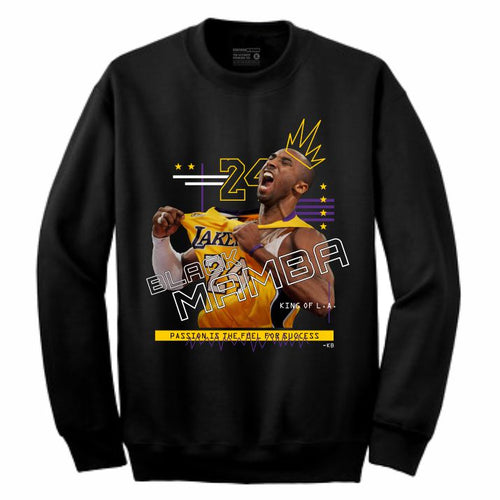 Mamba Black Crewneck (Mixed Media Collection)