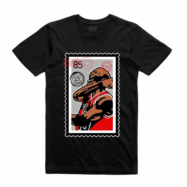 MJ Black T-Shirt (Stamp V1 Collection)