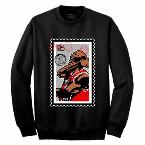 MJ Black Crewneck (Stamp V1 Collection)