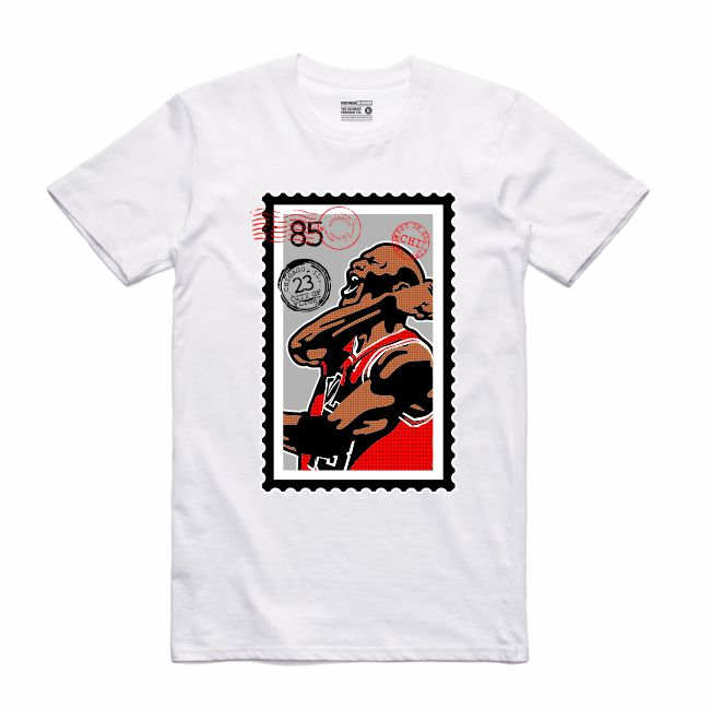 MJ White T-Shirt (Stamp V1 Collection)
