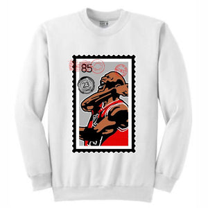 MJ White Crewneck (Stamp V1 Collection)