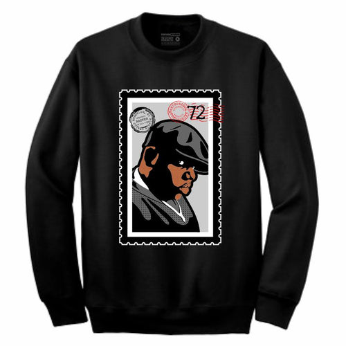 Biggie Black Crewneck (Stamp V1 Collection)