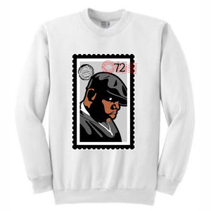 Biggie White Crewneck (Stamp V1 Collection)