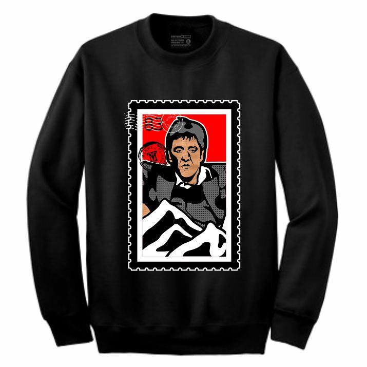 Scarface Black Crewneck (Stamp V1 Collection)
