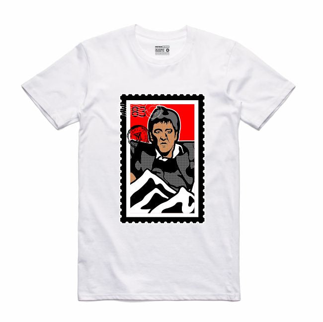 Scarface White T-Shirt (Stamp V1 Collection)
