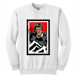 Scarface White Crewneck (Stamp V1 Collection)