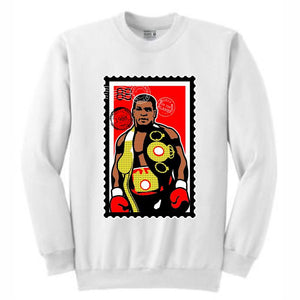 Iron Mike White Crewneck (Stamp V1 Collection)