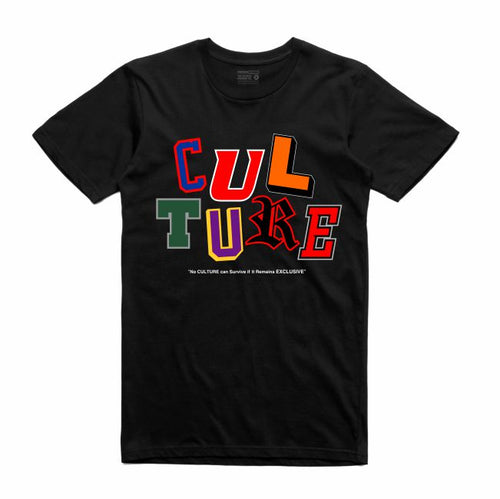 Letterman Black T-Shirt (Culture)