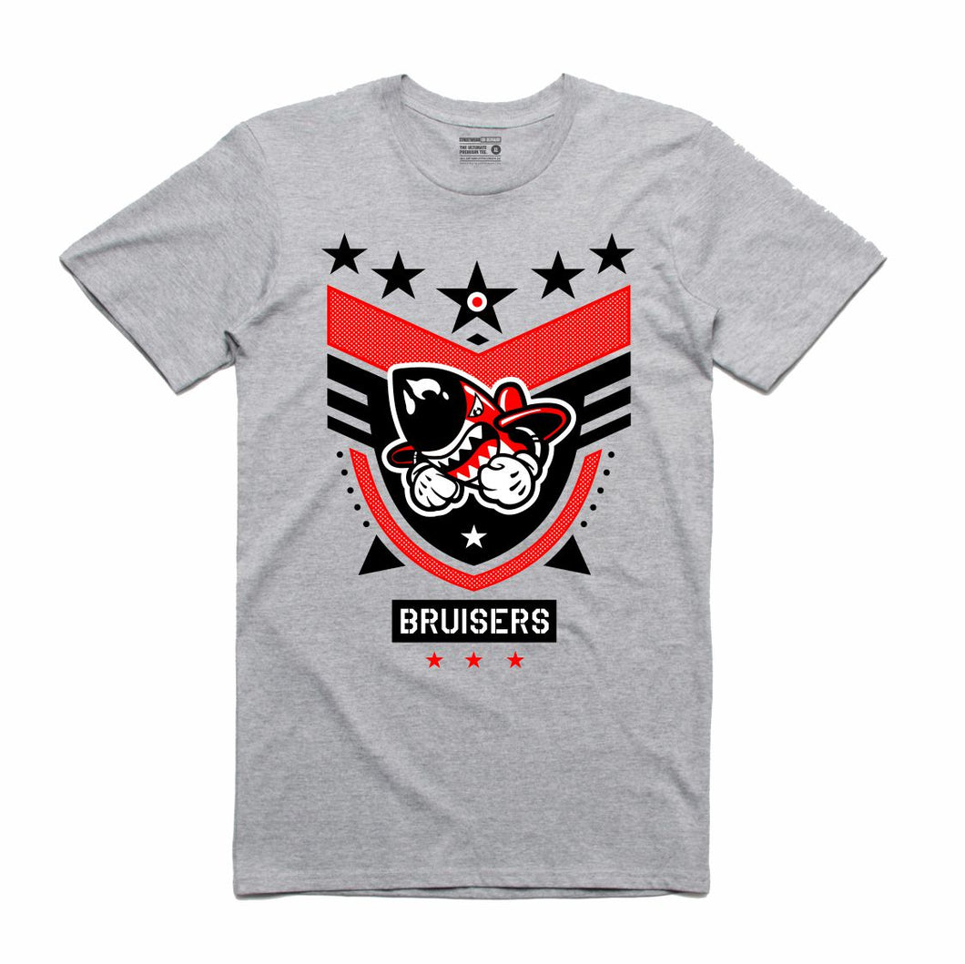 Bruiser 5 Star Grey T-Shirt (Bruisers)