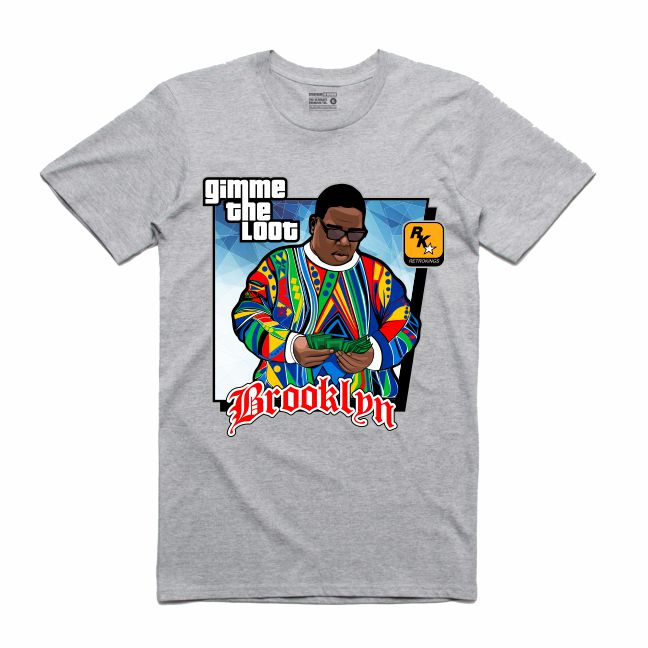 Gimme the Loot Grey T-Shirt (GTA Collection)