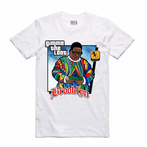 Gimme the Loot White T-Shirt (GTA Collection)