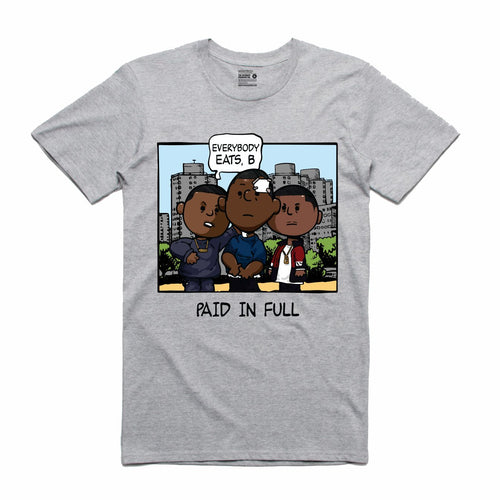 Paid In Full Grey T-Shirt (PNUTS Collection)