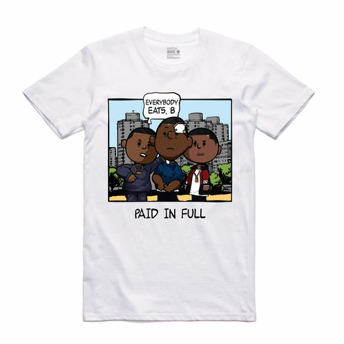 Paid In Full White T-Shirt (PNUTS Collection)